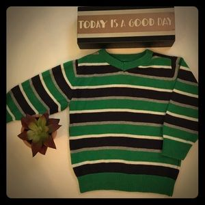 Boys 2T Children's Place green Striped Sweater